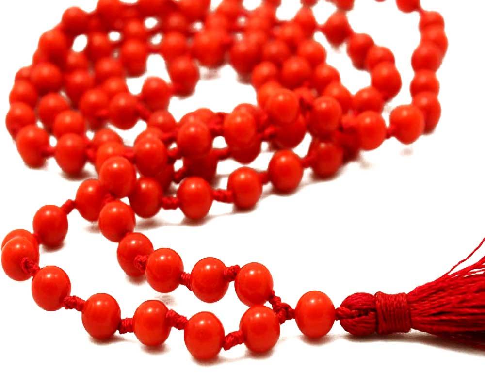 Red Coral Mala Original